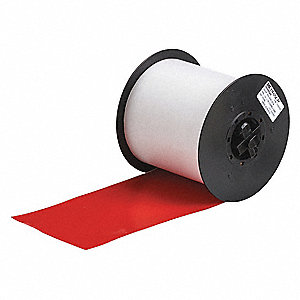 "Indoor/Outdoor Vinyl Film Label Tape Cartridge, Red, 4""W x 100 ft."