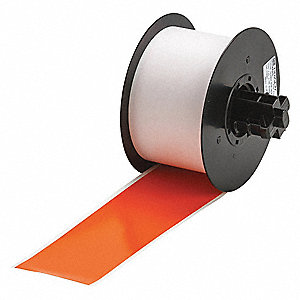 "Indoor/Outdoor Vinyl Film Label Tape Cartridge, Orange, 2-1/4""W x 100 ft."
