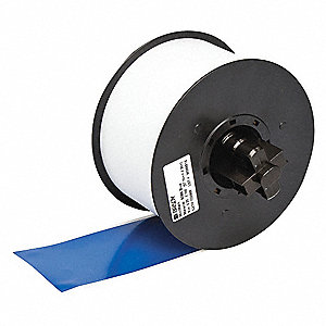 "Indoor/Outdoor Vinyl Film Label Tape Cartridge, Blue, 2-1/4""W x 100 ft."