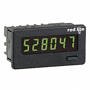 Electronic Counter, Number of Digits: 6, Backlit Yellow-Green LCD Display, Max. Counts per Second: 5