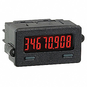 Timer, High Volt Input, Red Display