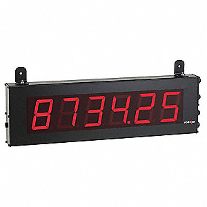 Electronic Counter, Number of Digits: 6, Red LED Display, Max. Counts per Second: 25,000