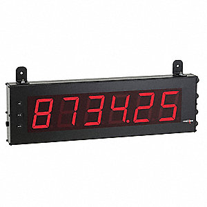 Electronic Counter Rate Meter, Number of Digits: 6, Red LED Display, Max. Counts per Second: 25,000