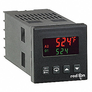 Temperature Controller, 1/16 DIN Size, 18 to 36VDC, 24VAC Input Voltage, Switch Function: Analog