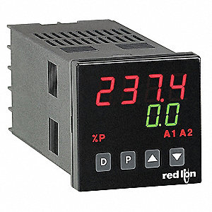 Temperature Controller, 1/16 DIN Size, 85 to 250VAC Input Voltage, Switch Function: SPST NO