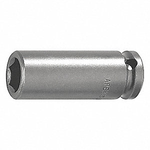 MAGNETIC SOCKET, 1/4IN DR 3/8IN 6PT