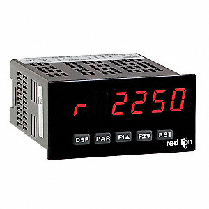 Rate Meter, Red Display VAC