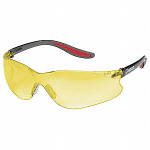Safety Glasses,Amber,Hard Coat
