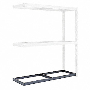 "72"" x 24"" Steel Additional Shelf Level, Gray"