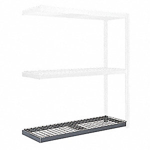 "48"" x 36"" Steel Additional Shelf Level, Gray"