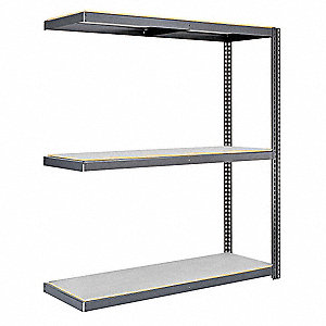 "Add-On Boltless Shelving with Laminate Decking, 3 Shelves, 48""W x 48""D x 84""H"