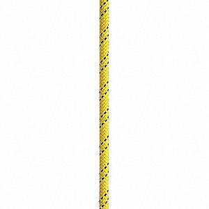 "1/2"" dia. Nylon/Polyester Arborist Rescue Rope, Yellow, 150 ft."