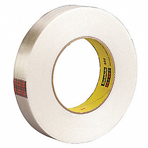 55m 6.6 mil Polypropylene Film Filament Tape, Clear