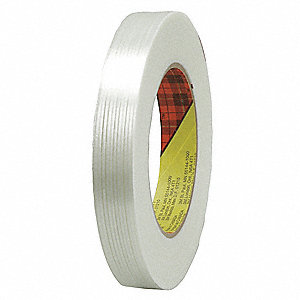 55m 6 mil Polypropylene Film Filament Tape, Clear