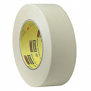 Masking Tape, 55m x 12mm, Tan, 6.3 mil
