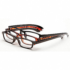 Reading Glasses,+3.5,Clear,Acrylic,PK3