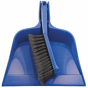 Dust Pan and Brush Set, Overall Width 10""