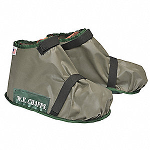 "Shoe Covers, Slip Resistant: No, Waterproof: Yes, 7"" Height, Size: 8 to 10-1/2, 1 PR"