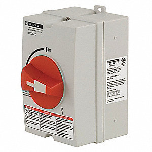 Nonfusible Enclosed Disconnect Switch, General Duty, 25 HP @ 600VAC