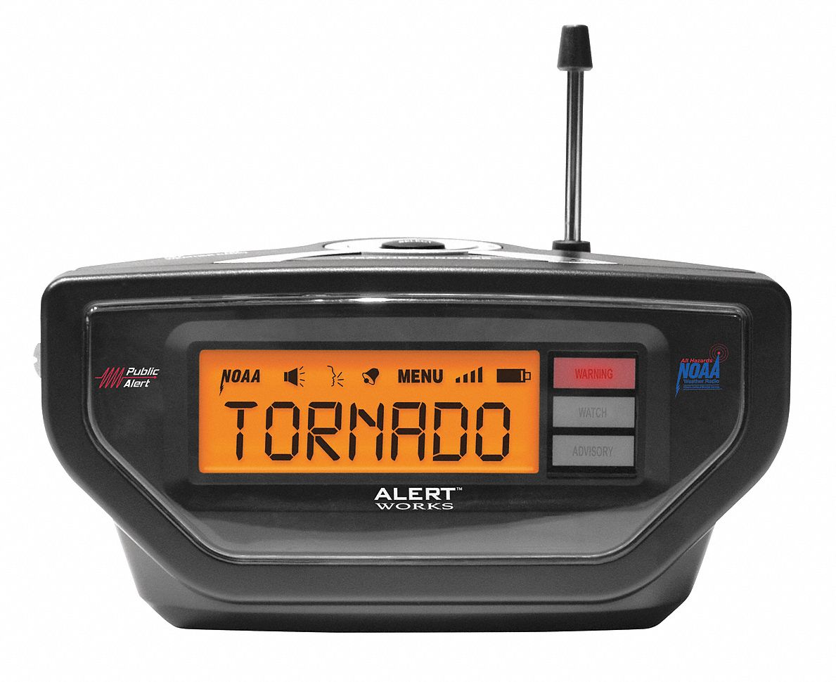 Table Top Radio Top Weather Radio Black