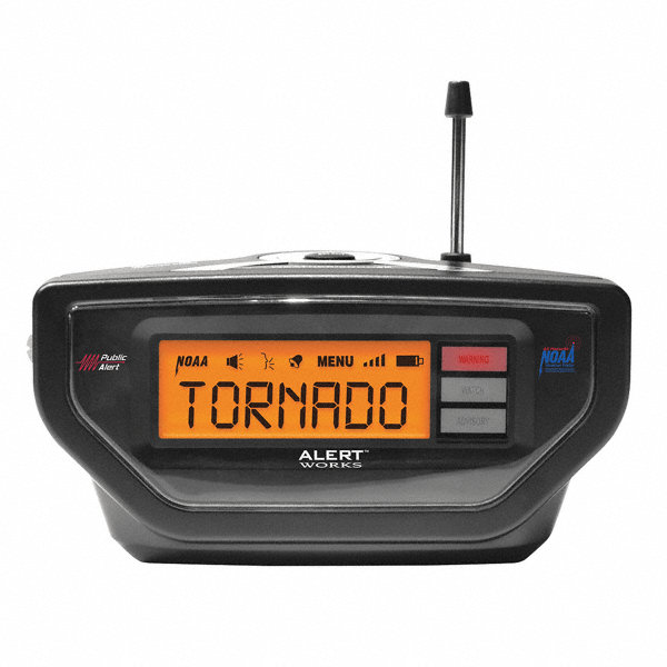 table top weather radio black noaa 13e399 ear 10 grainger