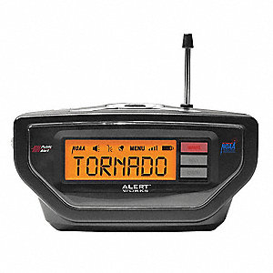 Portable Table Top Weather Radio, Black, NOAA