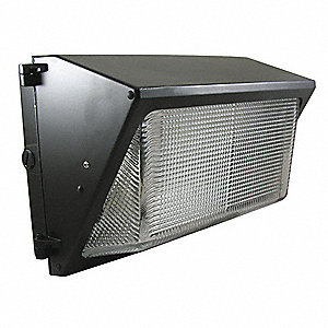 "9-1/2"" x 18-1/2"" x 9"" 40 Watt LED Wall Pack, Dark Bronze"