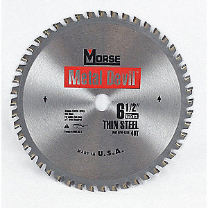 "6-1/2"" Carbide Metal Cutting Circular Saw Blade, Number of Teeth: 48"