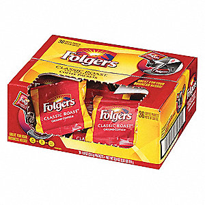 Regular Coffee, 0.9 oz Packet, Makes 8 to 10 Cups, Package Quantity 36