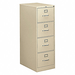 "18-1/4"" x 26-1/2"" x 52"" 4-Drawer 310 Series File Cabinet, Putty"