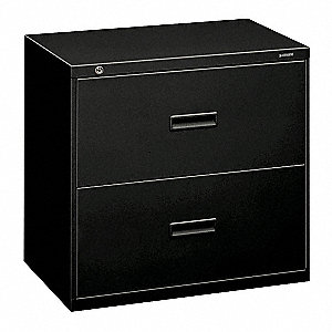 "30"" x 19-1/4"" x 28-3/8"" 2-Drawer 400 Series File Cabinet, Black"