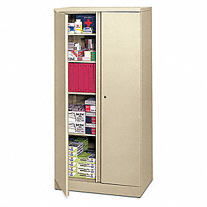 Storage Cabinet,5-Shelf,72 H,Putty