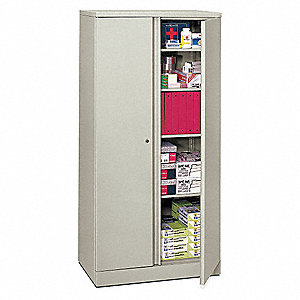 Storage Cabinet5-Shelf72 HLtGray  sc 1 st  Grainger & BASYX BY HON Storage Cabinet5-Shelf72 HLtGray - 13E998|HC187236.Q ...