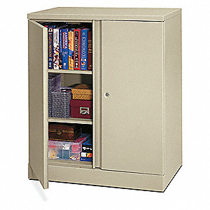 Storage Cabinet,3-Shelf,43 H,Putty