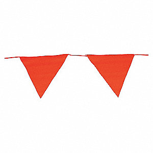 PENNANT SOLID RED 15 FLAGS 83FT
