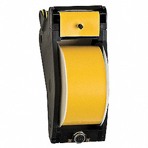 TAPE 2.25IN BLACK ON YELLOW
