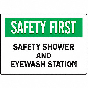 SIGN 72904 SAFETY FIRST 14X20
