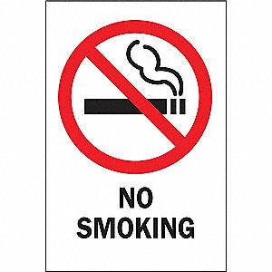 SIGN SELF STICK NO SMOKING 3.5X5