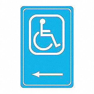 SIGN HANDICAPPED 14X10