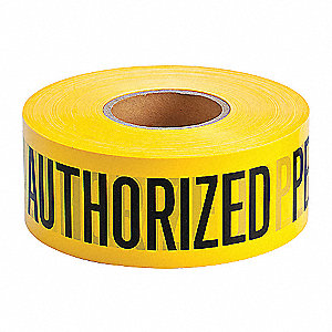 TAPE AUTH.PERS.ONLY 3IN X 1000FT