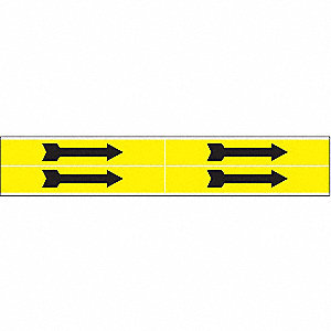 PIPEMARKER SNG YW/BK ARRO 1-2.5IN
