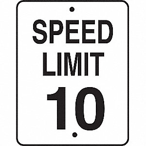 SIGN TRAFFIC STD SPEED LIMIT 10 MPH