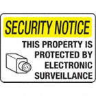 SIGN SECURITY NOTICE 14X20 BLK,YL.W