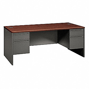 Office Desk,72 x 29-1/2 x 36 In,Charcoa