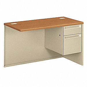 Right Desk Return,48x29-1/2x24 In,Putty