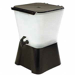3 gal. Square Beverage Dispenser, Translucent/Black