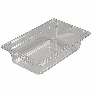 Food Pan,Fourth-Size,Clear,PK6