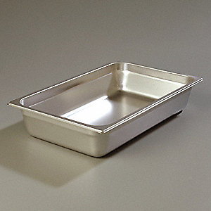 "20.75"" x 12.75"" x 4"" 16.6 Qt. Stainless Steel DuraPan Food Pan"