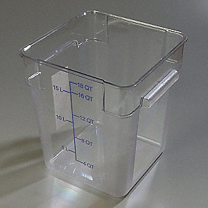 StorPlus Square Container,18 qt.,PK6