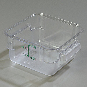 STORPLUS SQUARE CONTAINER,2 QT.,PK